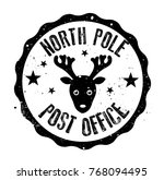 north pole post office rubber... | Shutterstock .eps vector #768094495