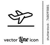 departure vector icon | Shutterstock .eps vector #768095881