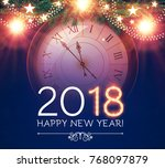 happy new 2018 year background... | Shutterstock .eps vector #768097879