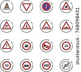 line vector icon set   road... | Shutterstock .eps vector #768098431