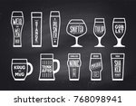 beer glassware types. poster or ... | Shutterstock .eps vector #768098941