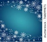 beautiful winter frame made of...   Shutterstock .eps vector #768099871