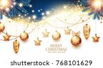 christmas design template with... | Shutterstock .eps vector #768101629