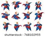 vector set of twelve cartoon... | Shutterstock .eps vector #768102955