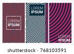 modern covers set. vector... | Shutterstock .eps vector #768103591