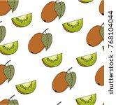 seamless vector pattern. bright ...   Shutterstock .eps vector #768104044