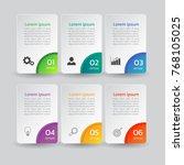 infographic design template 3d... | Shutterstock .eps vector #768105025