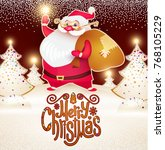 smiling santa claus. christmas...   Shutterstock .eps vector #768105229