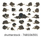 chinese clouds. vector | Shutterstock .eps vector #768106501