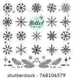 winter art hand drawn... | Shutterstock .eps vector #768106579