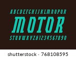italic narrow serif font in... | Shutterstock .eps vector #768108595