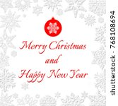 merry christmas and happy new... | Shutterstock .eps vector #768108694
