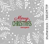 merry christmas background | Shutterstock .eps vector #768109759