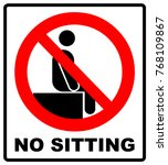 no sitting. do not sit on... | Shutterstock .eps vector #768109867