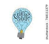 generate ideas. handdrawn brush ... | Shutterstock .eps vector #768111379