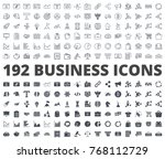 Business and Finance Icon line and silhouette | Shutterstock vector #768112729
