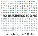 business and finance icon... | Shutterstock .eps vector #768112735