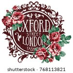 oxford street london fashion ... | Shutterstock .eps vector #768113821