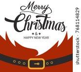 santa background. happy new... | Shutterstock .eps vector #768114829