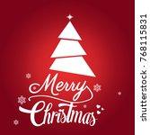 merry christmas background | Shutterstock .eps vector #768115831