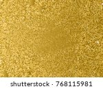 gold sequins texture. abstract... | Shutterstock .eps vector #768115981
