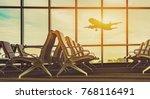 passenger seat in departure... | Shutterstock . vector #768116491