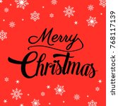 merry christmas background with ... | Shutterstock .eps vector #768117139