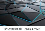 abstract futuristic polygonal... | Shutterstock . vector #768117424