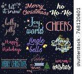 christmas background... | Shutterstock .eps vector #768120601