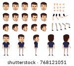 businessman creation set....   Shutterstock .eps vector #768121051