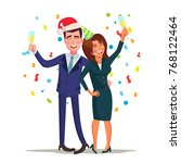 corporate christmas party... | Shutterstock .eps vector #768122464