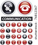 communication icons  signs ... | Shutterstock .eps vector #76812367