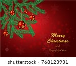 christmas background with...   Shutterstock .eps vector #768123931