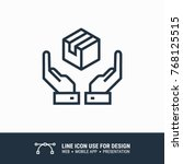 icon logistic label hands...   Shutterstock .eps vector #768125515