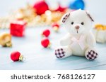 christmas and happy new year... | Shutterstock . vector #768126127