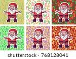 santa claus character... | Shutterstock .eps vector #768128041