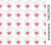 seamless pattern with hearts... | Shutterstock .eps vector #768129529