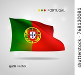 portugal 3d style glowing flag... | Shutterstock .eps vector #768130081