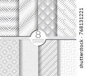 set of vector seamless patterns.... | Shutterstock .eps vector #768131221
