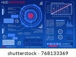hud interface. vector... | Shutterstock .eps vector #768133369