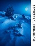 wonderful rising of full moon... | Shutterstock . vector #768136291