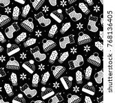 christmas seamless pattern with ... | Shutterstock .eps vector #768136405