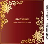 invitation template  background ... | Shutterstock .eps vector #768136501
