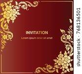 invitation template  background ... | Shutterstock .eps vector #768136501