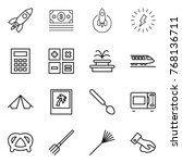 thin line icon set   rocket ... | Shutterstock .eps vector #768136711