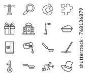 thin line icon set   lighthouse ... | Shutterstock .eps vector #768136879