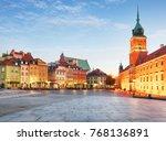 warsaw old town  plaz zamkowy ...   Shutterstock . vector #768136891