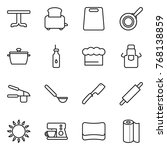 thin line icon set   table ... | Shutterstock .eps vector #768138859
