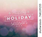 typographic christmas design  ... | Shutterstock .eps vector #768139255