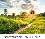 path leading to the ascending... | Shutterstock . vector #768141415